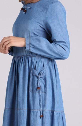 Robe Hijab Bleu Jean 0104-01