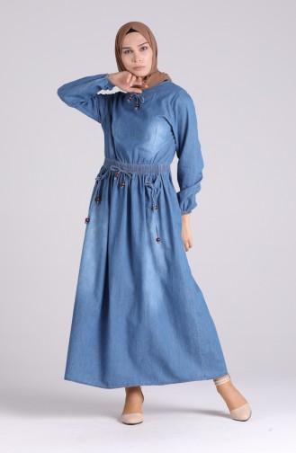 Robe Hijab Bleu Marine 0105-01