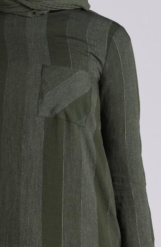 Robe Hijab Vert Foncé 12054-01