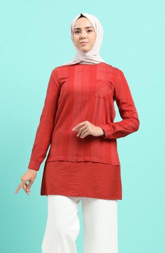 Robe Hijab Couleur brique 12054-04