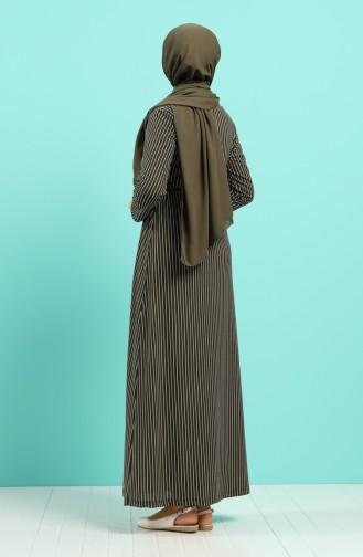Robe Hijab Khaki 5708Y-02