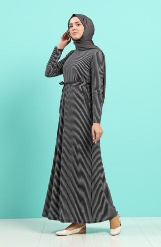 Anthrazit Hijap Kleider 5708Y-03