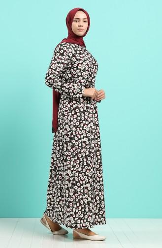 Weinrot Hijap Kleider 5709E-01