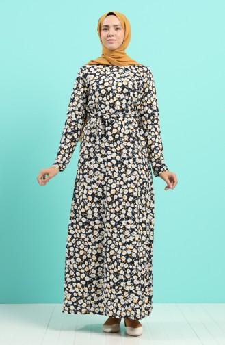 Gelb Hijap Kleider 5709E-02