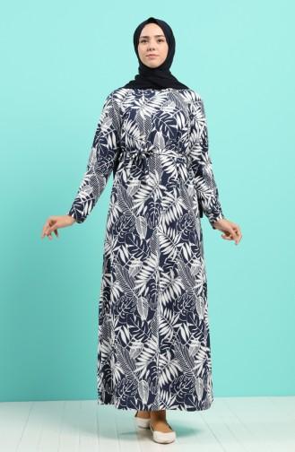 Robe Hijab Bleu Marine 5709F-01