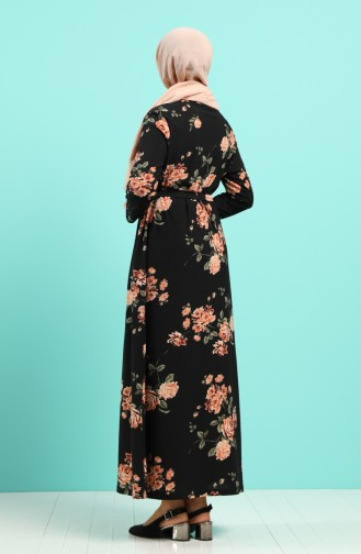 Schwarz Hijap Kleider 5709G-01