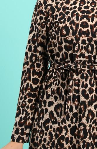 Robe Hijab Couleur Brun 5709J-01