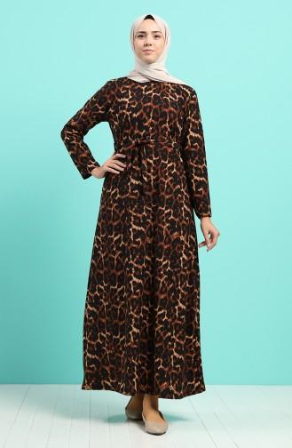 Robe Hijab Couleur Brun 5709K-01