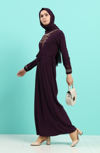 Lila Hijap Kleider 5757-08