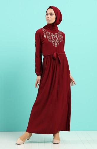 Robe Hijab Bordeaux 5758-06