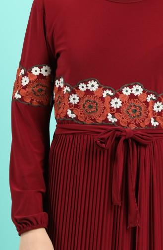 Robe Hijab Bordeaux 5814-05