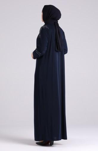 Dunkelblau Hijap Kleider 1638-02