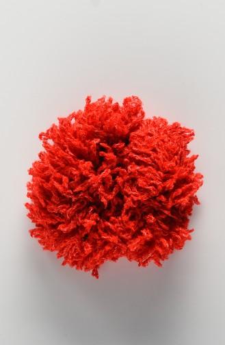 Pince à cheveux Rouge 7007-01