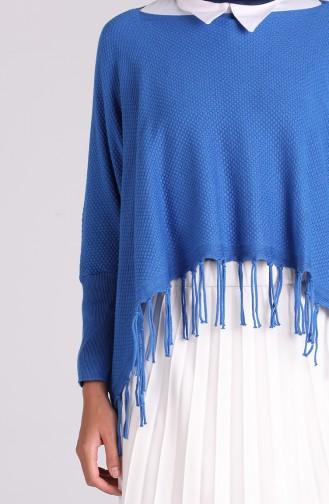 Saks-Blau Bluse 1092-10