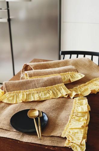 Textile de Maison Jaune 3149