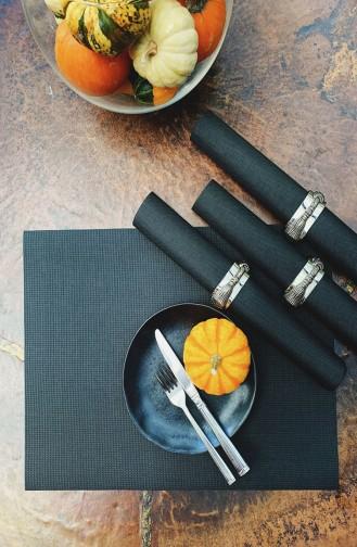 Textile de Maison Noir 999-6S