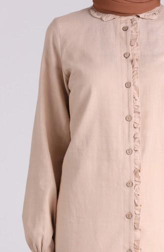 قميص بني مائل للرمادي 6129-01