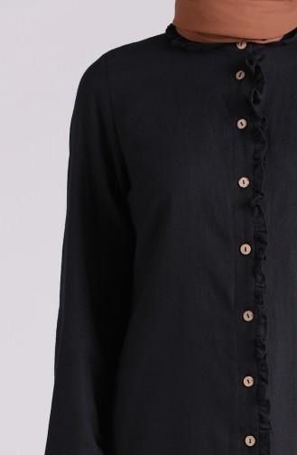 Chemise Noir 6129-02