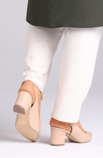 Skin color Heeled Shoes 0611-08