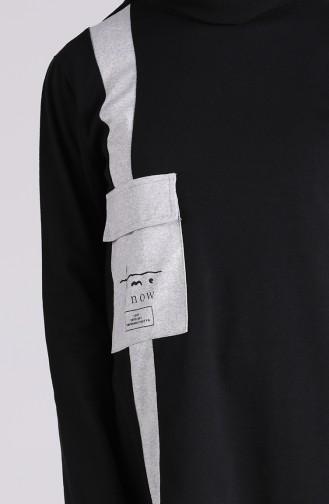 Cepli Tunik Pantolon İkili Takım 1035-03 Siyah