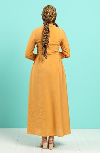 Senf Hijap Kleider 40102-02