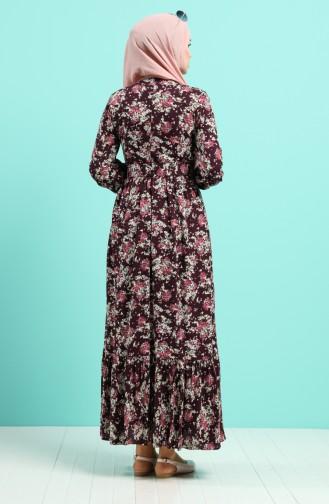 Robe Hijab Plum 4547-02