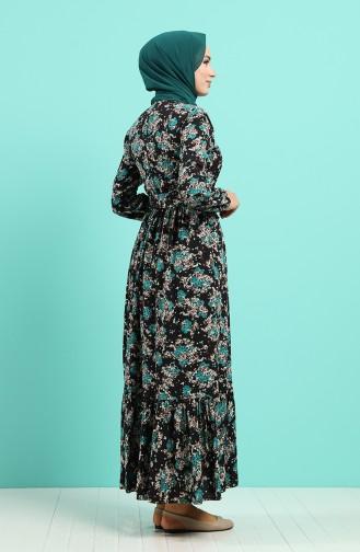 Schwarz Hijap Kleider 4547-05