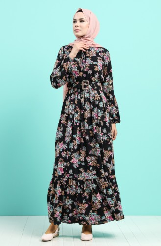 Robe Hijab Noir 4548-03