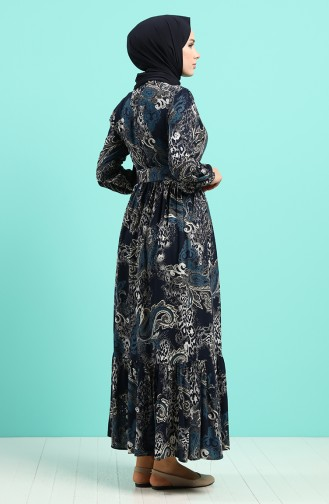 Robe Hijab Bleu Marine 4549-03