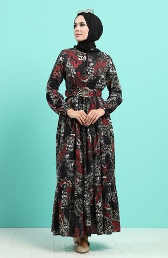 Schwarz Hijap Kleider 4549-06