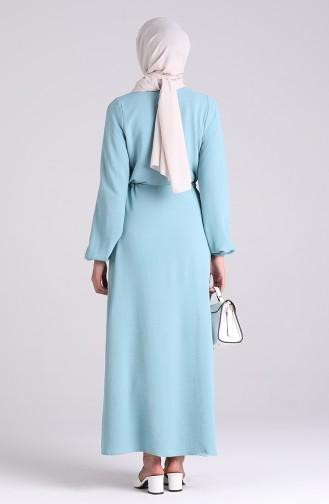 Robe Hijab Vert menthe 5388-13