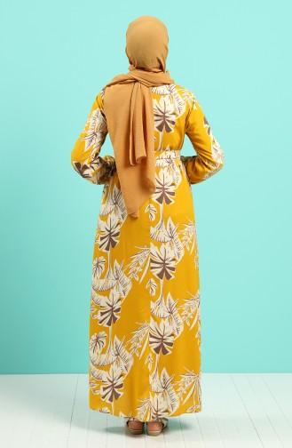 Robe Hijab Moutarde Foncé 0045-04