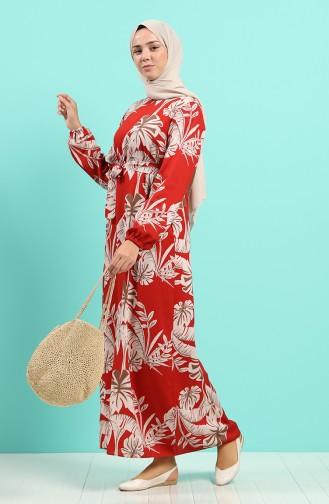 Robe Hijab Brique Foncé 0045-05