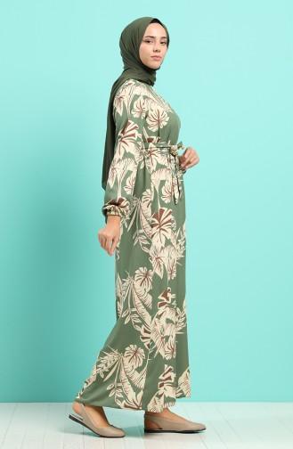 Robe Hijab Vert noisette 0045-06