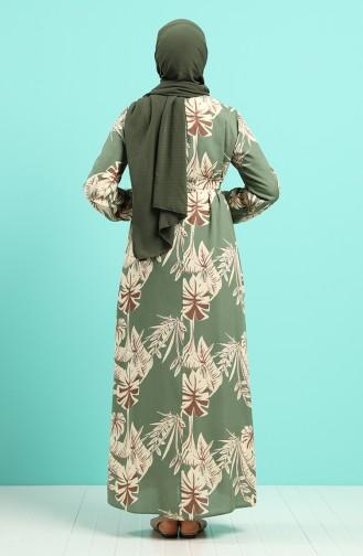 Green İslamitische Jurk 0045-06