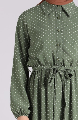 Khaki Hijap Kleider 3196A-01