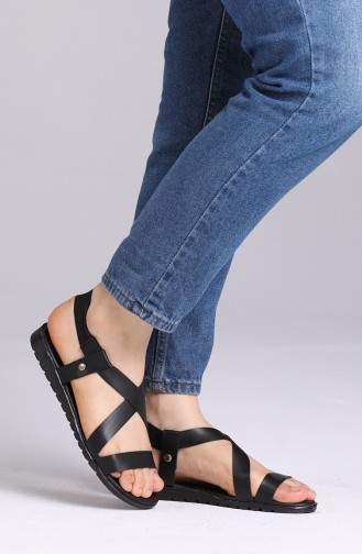 Schwarz Sommer Sandalen 4700-0