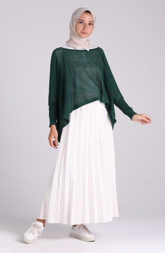 Smaragdgrün Bluse 1093-07