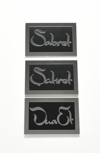 Schwarz Wohnaccessoires 04002SG-03