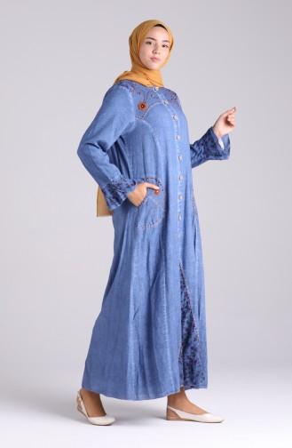 Abayas Bleu 4242-01