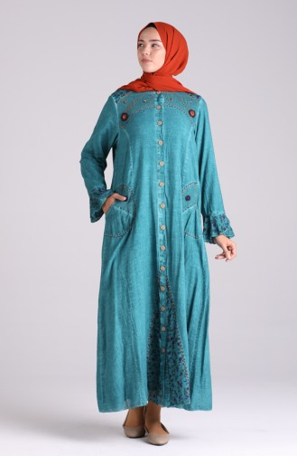 Smaragdgrün Abayas 4242-04