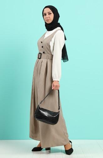 Kemerli Jile Elbise 2002-08 Vizon