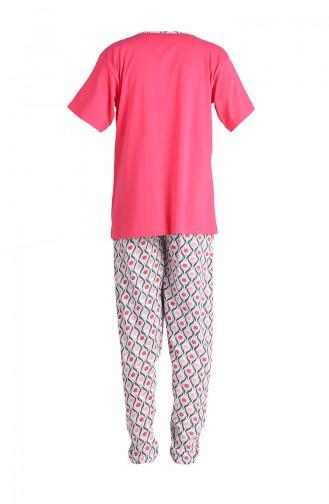 Kısa Kol Pijama Takım 1501A-01 Mercan