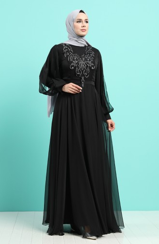 Habillé Hijab Noir 52777-02