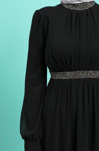 Habillé Hijab Noir 4216-02