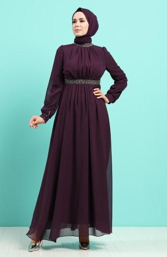 Lila Hijab-Abendkleider 4216-03