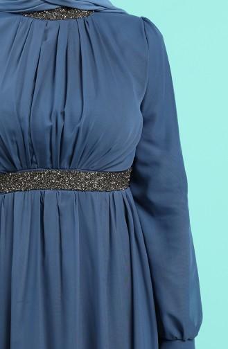 Habillé Hijab Indigo 4216-04