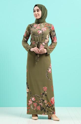 Khaki Hijap Kleider 0125-04