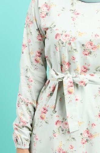 Robe Hijab Vert menthe 4610-02