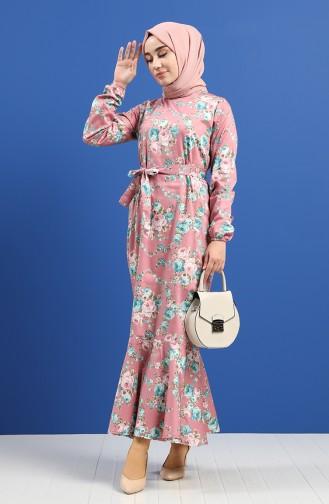 Beige-Rose Hijap Kleider 4650-01